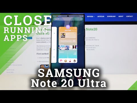 How to Turn Off Running Apps in SAMSUNG Galaxy Note 20 Ultra – Close Background Apps