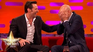 Hugh Jackman Loses It Over Sir Patrick Stewart's Ridiculous Circumcision Story - Graham Norton Show