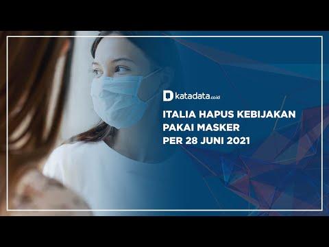 Italia Hapus Kebijakan Pakai Masker Per 28 Juni 2021 | Katadata Indonesia