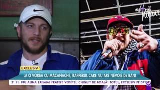 Macanache, rapperul care nu are nevoie de bani: ″Dacă vrei să slăbești, e bine să mergi pe șantier″