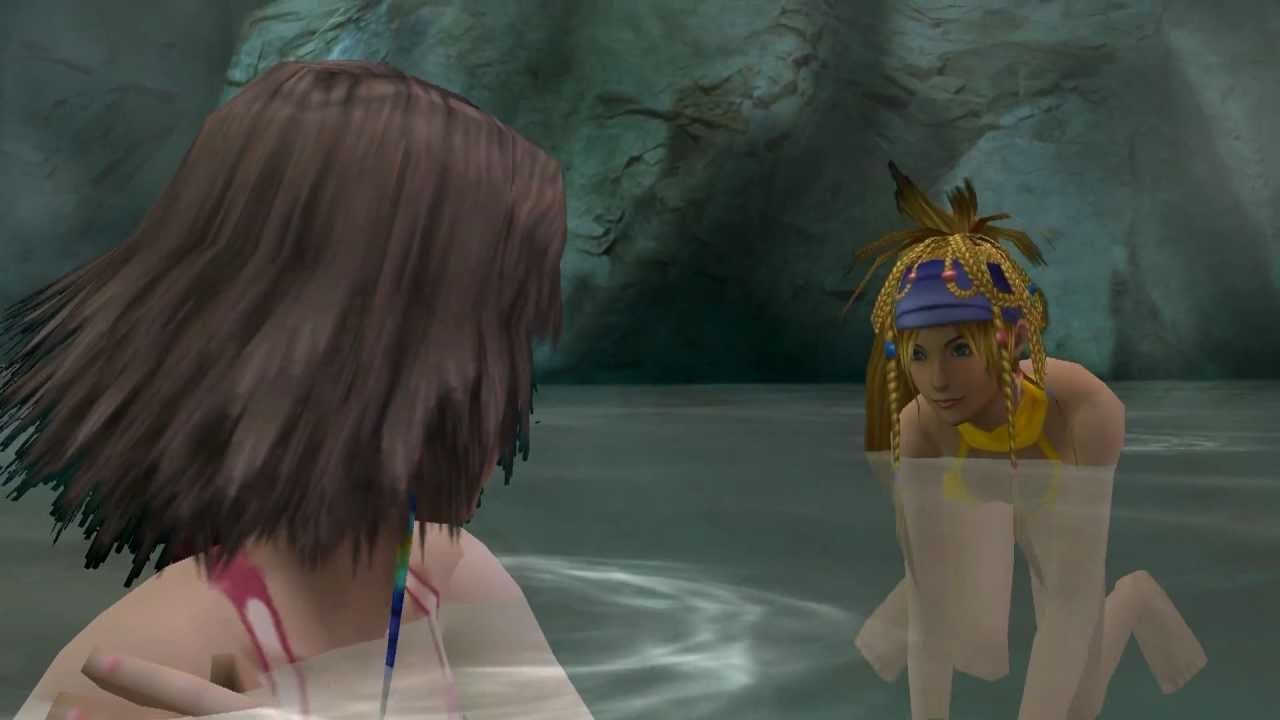 1080p Wallpaper Girl Feet Final Fantasy X 2 Hot Spring Scene Youtube