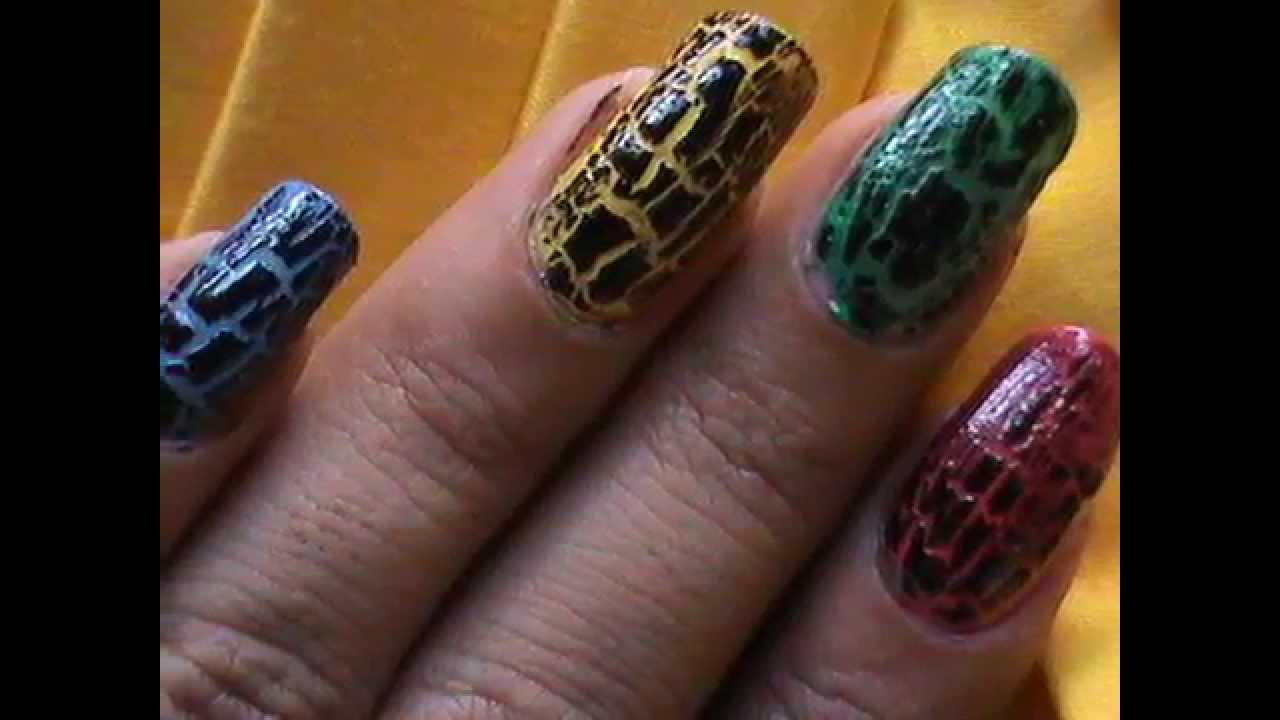 My crackle nails ! crackle nail polish! Design ideas, how