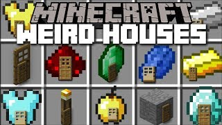 Minecraft WEIRD HOUSES MOD / FIND YOUR FAVOURITE RS HOUSE!! Minecraft