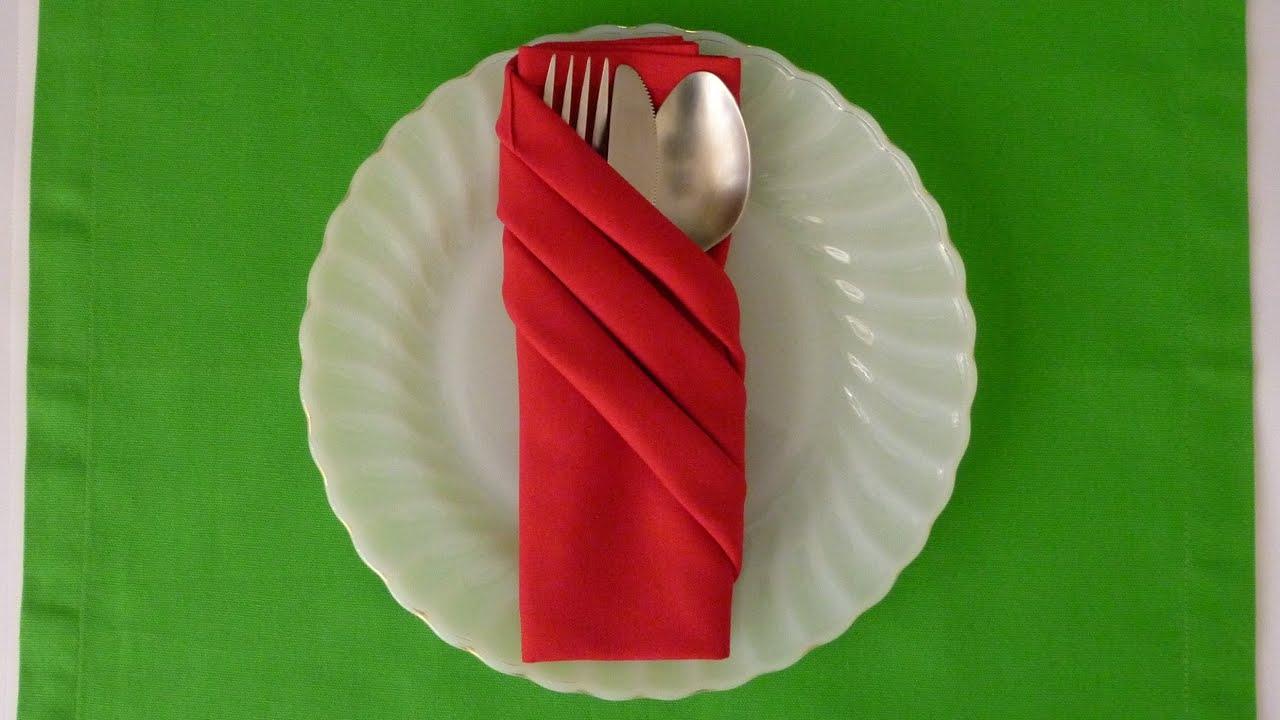 Napkin Folding  Fancy Pouch  YouTube