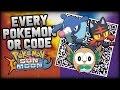 Pokémon Sun and Moon COMPLETE Pokédex - All QR Codes