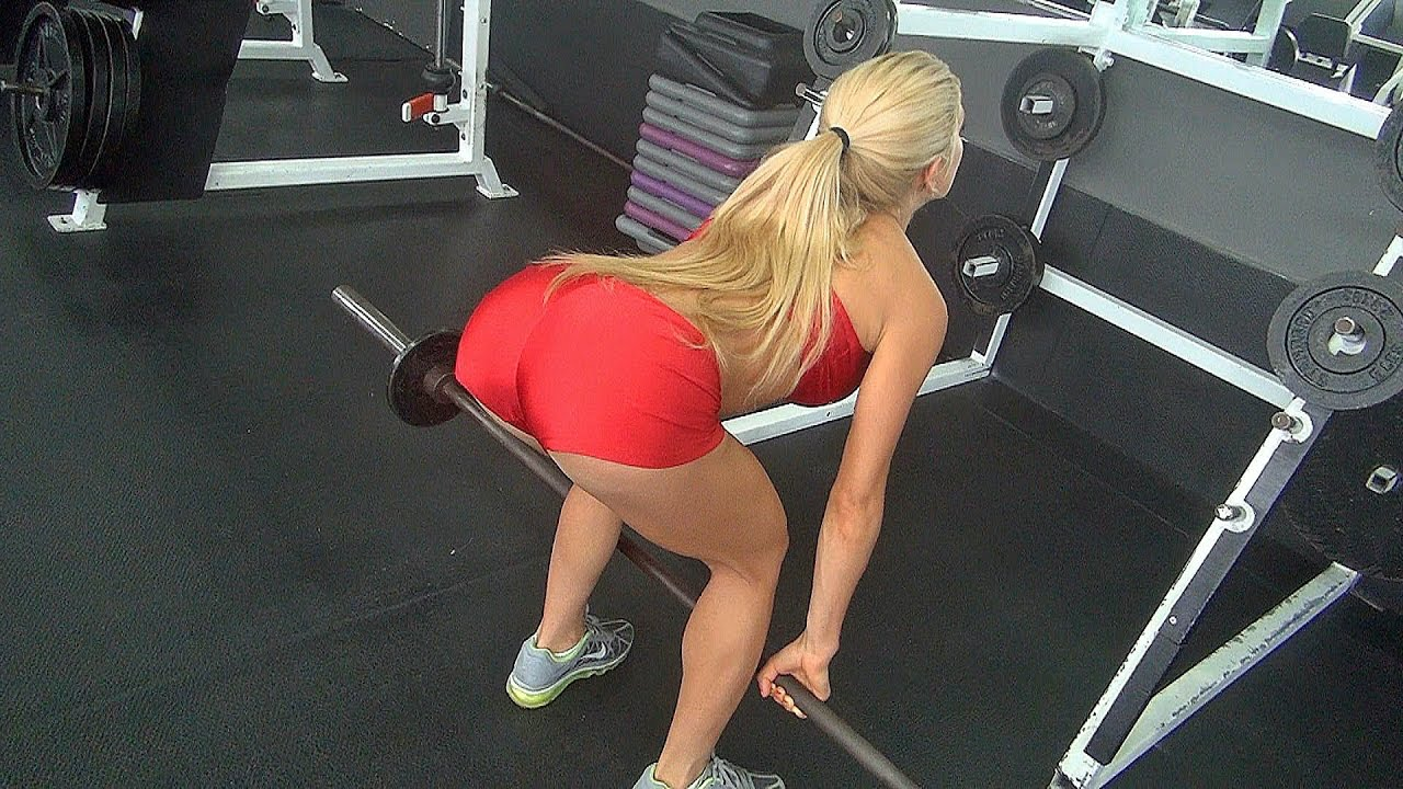 Womens Deadlifts Workout in the Gym for Great Butt and