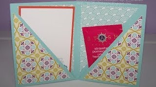 FUN FOLDS Double Corner Pocket Card with Kelly Gettelfinger