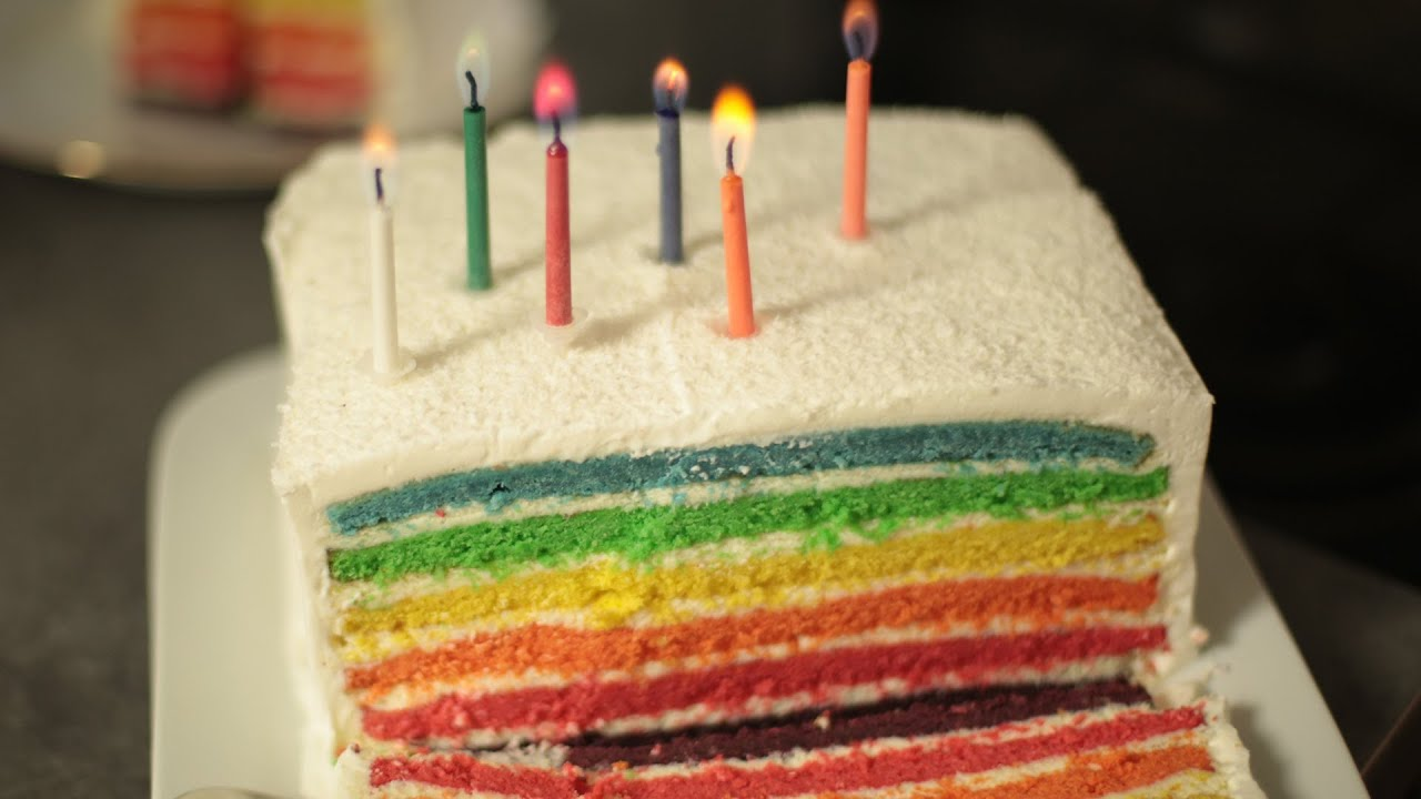 Recette Du Rainbow Cake YouTube
