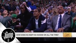 Paul Pierce on Kevin Garnett's hoodie: I think he tapes it on his head | The Jump | ESPN