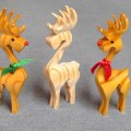Christmas 3d reindeer ornament compound cuts on the scroll saw