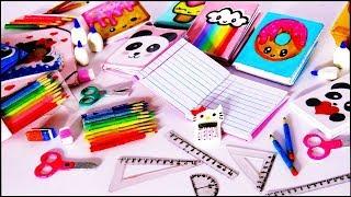 9 Miniaturas ESCOLARES fáceis para BARBIE | Caderno tesoura régua lápis e mais