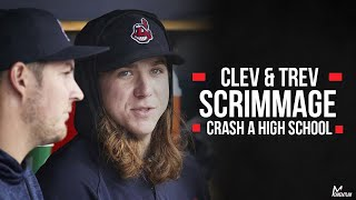 Trevor Bauer and Mike Clevinger Get Mic'd Up and Go Crash a High School Baseball Scrimmage