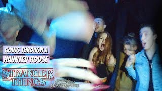 Going Through The Stranger Things Haunted House in VR 180 | Madelaine Petsch