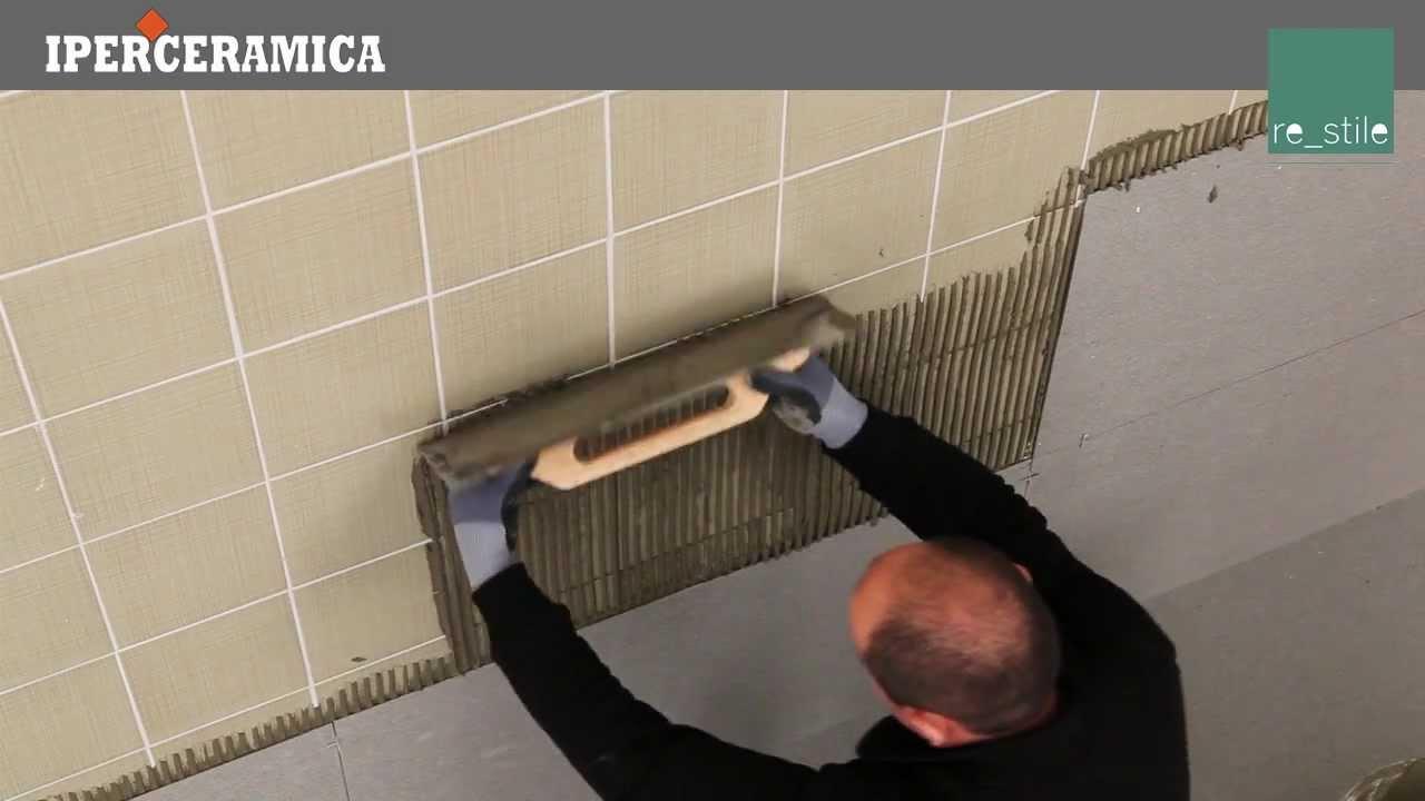 Posa rivestimento gres porcellanato sottile  IPERCERAMICA