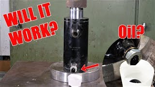 Extracting Oil from Oil Sand With Hydraulic Press?