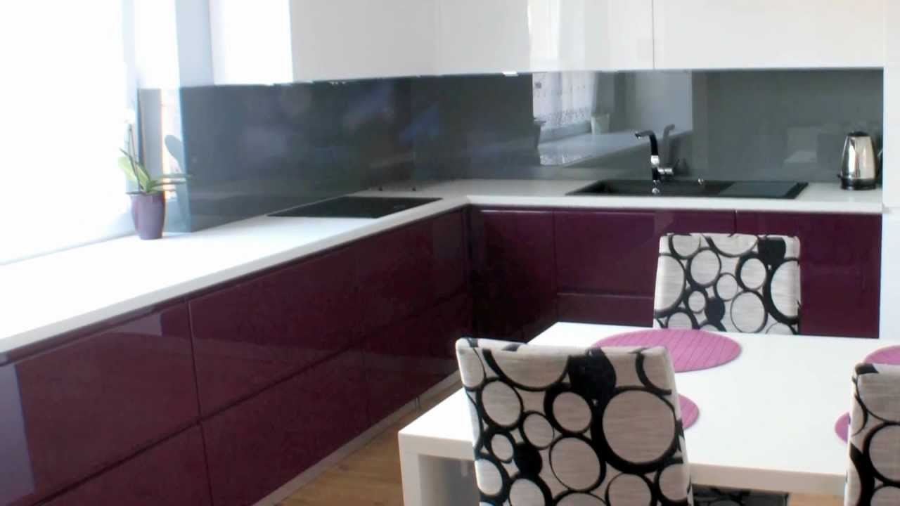 meble kuchenne lakierowane biao fioletowe Mrozu Projekt Krakw  YouTube
