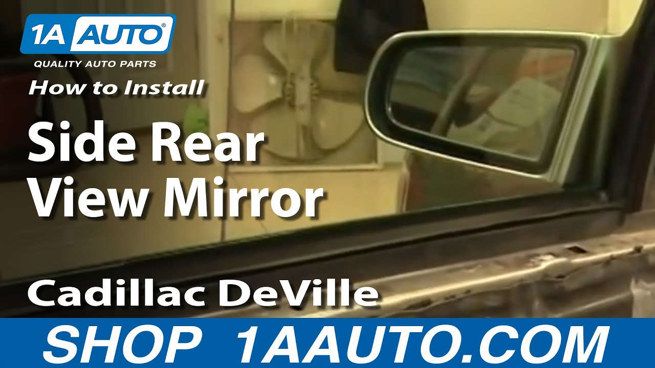 And Gate Wiring Diagram How To Install Replace Side Rear View Mirror Cadillac