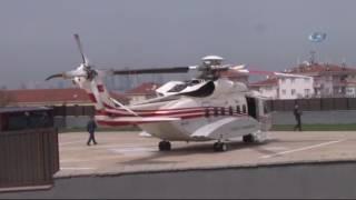 Cumhurbaşkanı Erdoğan Helikopterle Balıkesir'e Hareket Etti