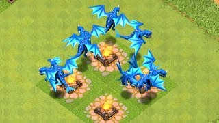 """ALL ELECTRIC DRAGON RAID """" clash of clans"""" NEW UPDATE!"""