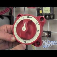 Parallel Battery Wiring Diagram 99 00 Civic Radio Blue Sea System Switch Acr - Portland Marine Electronics Youtube