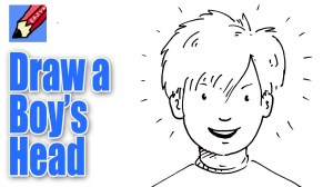 draw boy face drawing easy boys simple cartoon kid sketches step anime drawings faces clipart sketch arts young pencil children