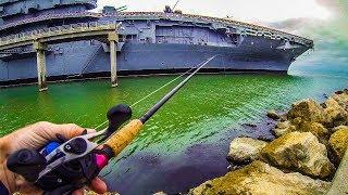 fishing by an u.s. aircraft carrier versus ThresherFishing