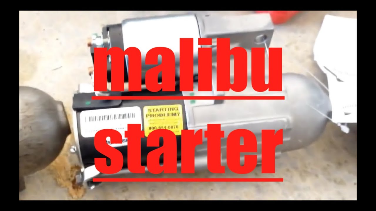 2013 Malibu Engine Diagram How To Replace Starter Motor 2005 Chevrolet Malibu Youtube