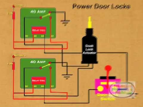 70 Ford Mustang Solenoid Wiring Diagram How To Wire Relay Power Door Lock Youtube