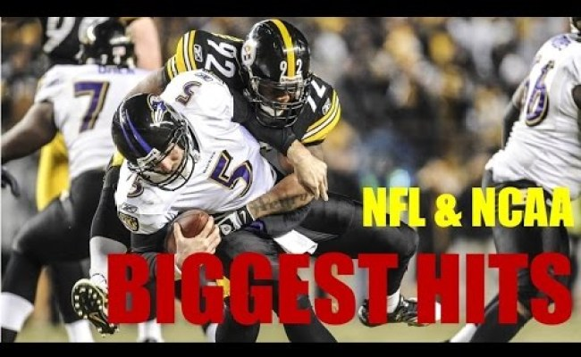 Nfl Hardest Hits Here Comes The Boom Biggest Football