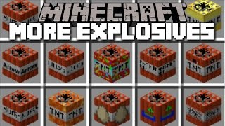 Minecraft CRAZY TNT MOD / THE CRAZY BOMBS WITH NUKES AND ANTIMATTER!! Minecraft
