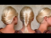 french fishtail braid and christmas