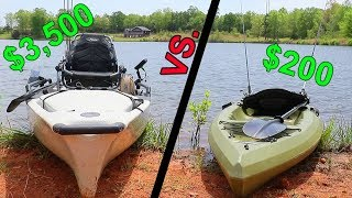 Cheap Kayak VS. Expensive Kayak - Fishing CHALLENGE