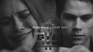 Stydia - You said ″Remember I love you″ [6x05]