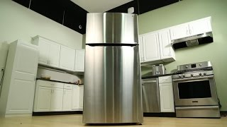 This LG top freezer fridge is as big as they come