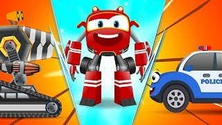 Baby Cars - Bob the PoliceCar Chase thief! Cartoon Rhymes for kids