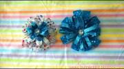 make layered flower bow