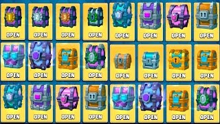 OPENING EVERY CHEST IN CLASH ROYALE - ALL CHEST OPENING + DRAFT CHEST