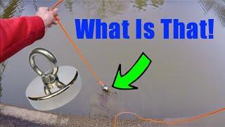 Magnet Fishing Off A Dam