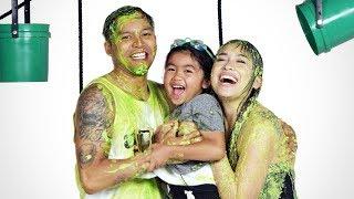 Austin's Family Gets Slimed! | Partners in Slime | HiHo Kids