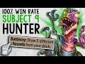 SLEEPER OP DECK - 100% WIN RATE! Subject 9 Hunter | The Boomsday Project | Hearthstone
