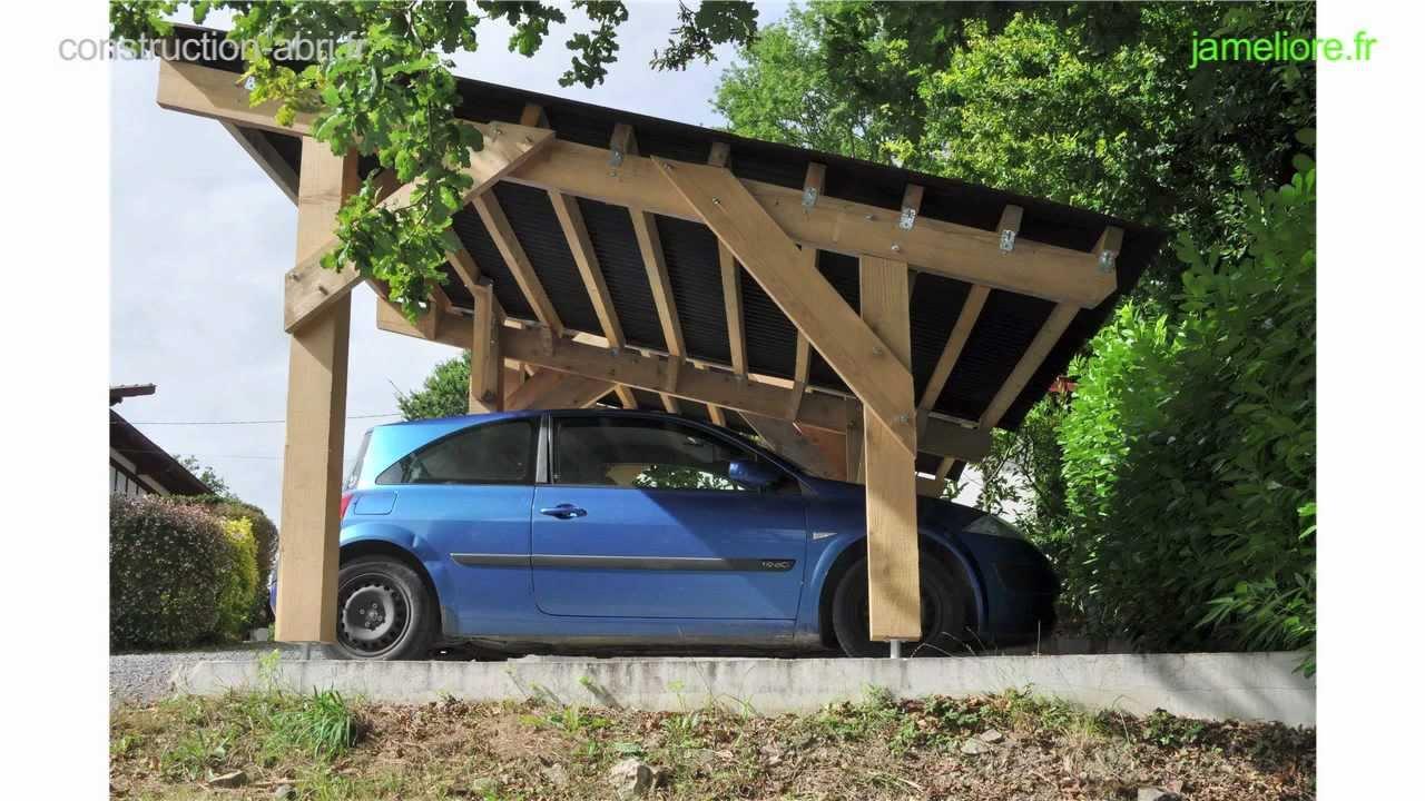 construction abri voiture  YouTube