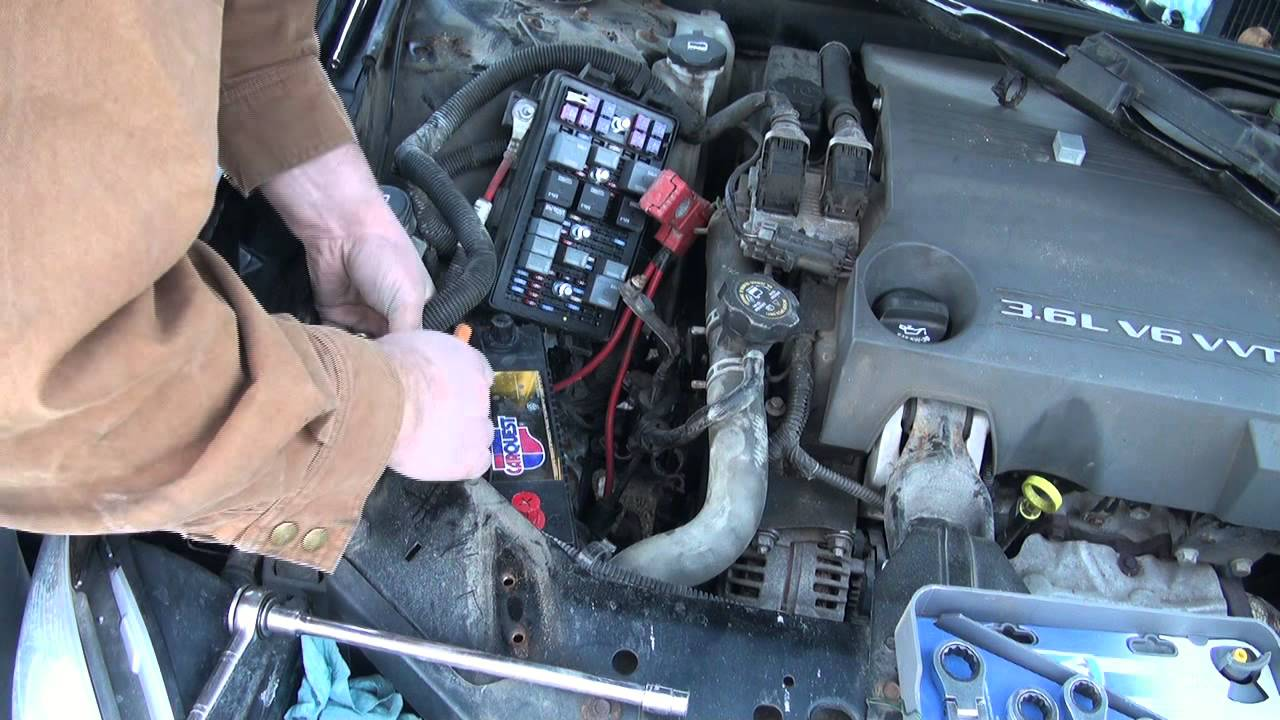 2008 Buick Lucerne Battery Location