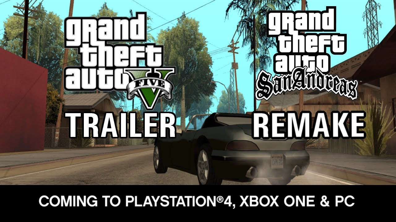GTA V Coming For PS4 Xbox One Amp PC Trailer San Andreas Remake YouTube