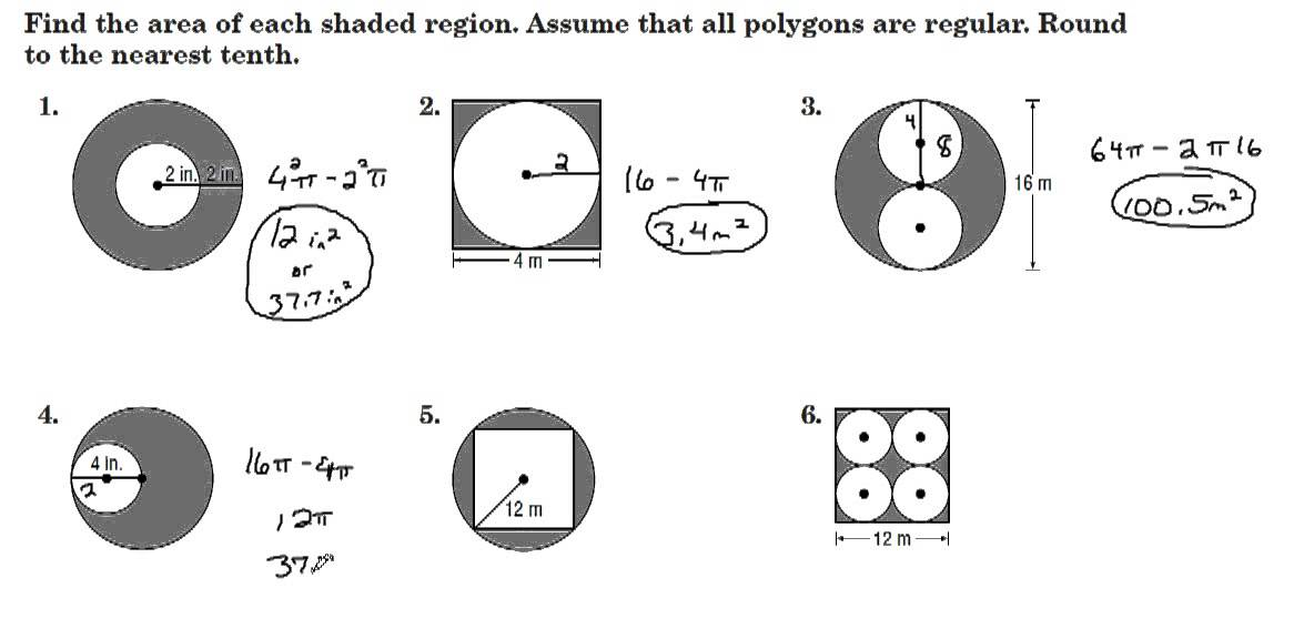 Printables. Area Of Shaded Region Worksheet. Mywcct