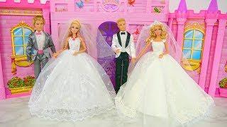 Barbie dolls Wedding Dress Shopping at Bridal Shop Gaun Pengantin Boneka Barbie Vestido De Noiva