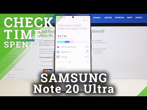 How to Check Total Screen Time in SAMSUNG Galaxy Note 20 Ultra – Display Settings