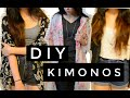 [2 MINUTE TUTORIAL] DIY KIMONO: 3 EASY WAYS