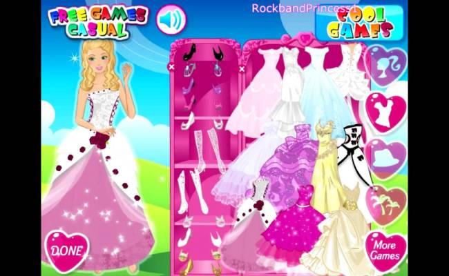 Barbie Wedding Bride Dress Up Game Youtube