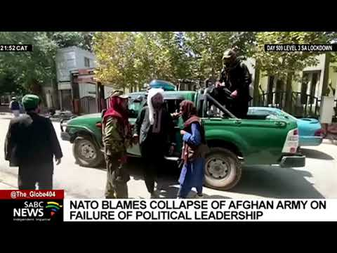 NATO blames the collapse of Afghanistan's armed forces on a failure of political leadership