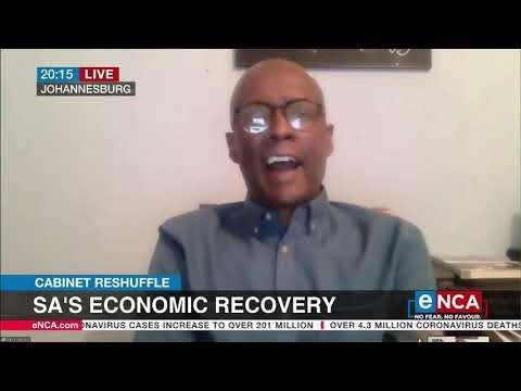 Cabinet Reshuffle   SA's economic recovery